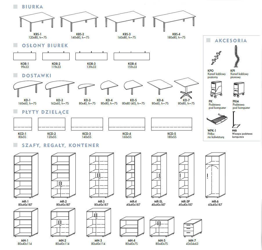 Biurko Classic - Wypożyczalnia mebli biurowych